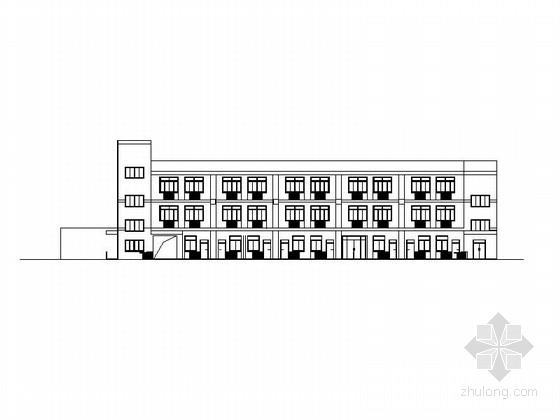 [浙江]三层现代风格敬老院建筑施工图(含消防 2014年图纸)