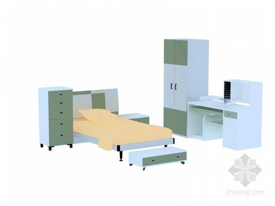 现代儿童家具3D模型下载