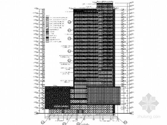 [河北]五星级商务酒店幕墙结构施工图