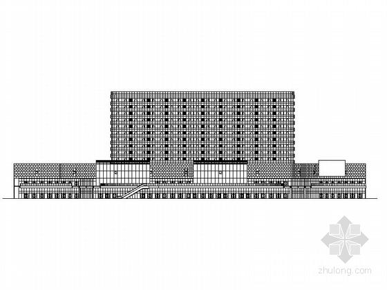 十三层现代风格公寓式办公楼建筑施工图