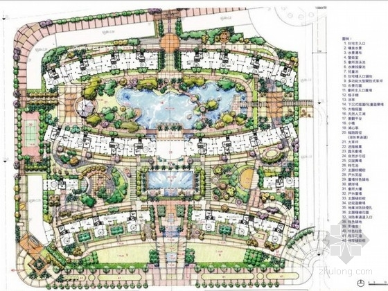 [广东]现代城市居住区景观规划设计方案