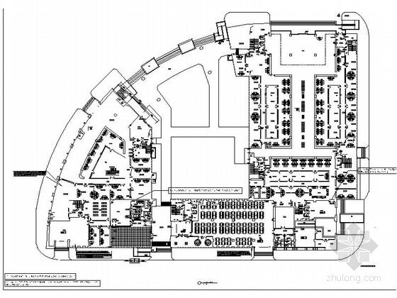 [浙江]设施完善现代便民服务中心室内装修施工图