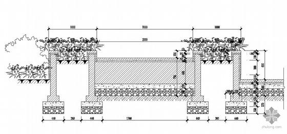 四川县城某服务站景观设计施工图