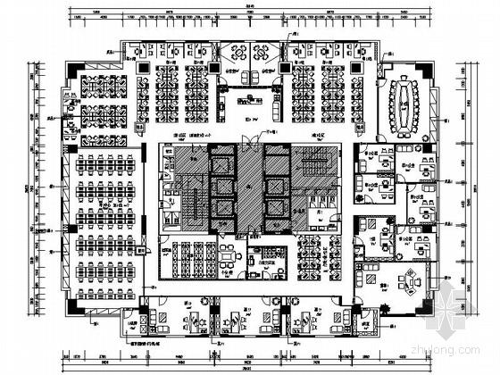 [浙江]某会计事务所办公室室内设计精装修CAD施工图