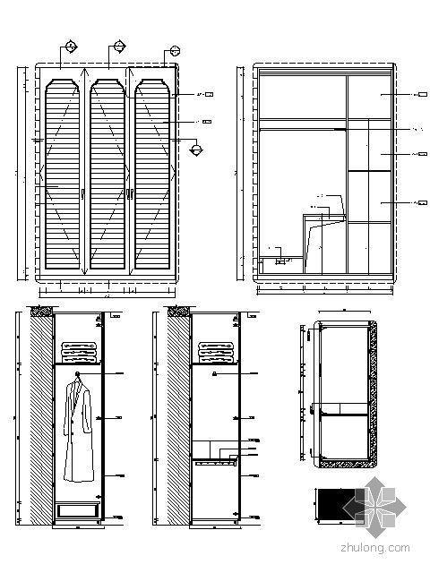 欧式书房柜详图