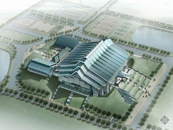 [华南]某农业大学体育馆建筑设计投标文本(A3)