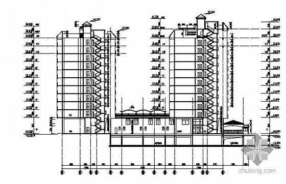 某小区B栋11层住宅楼建筑方案图-2