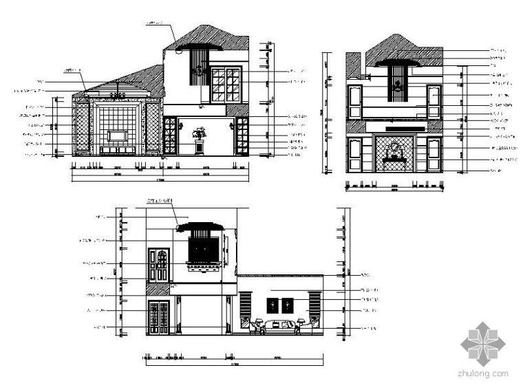 欧式别墅中庭立面图