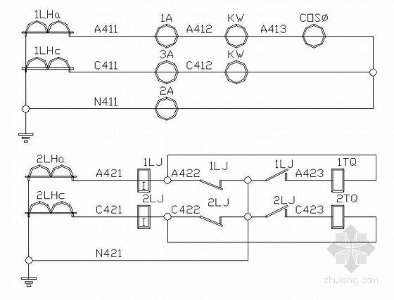 金属制品变电室电气设计-4