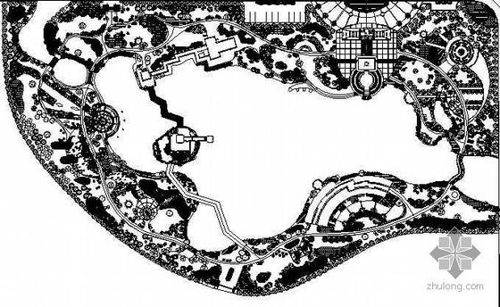 某公园设计总平面设计图