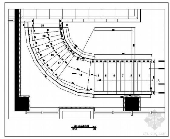 某大厅钢结构楼梯设计图