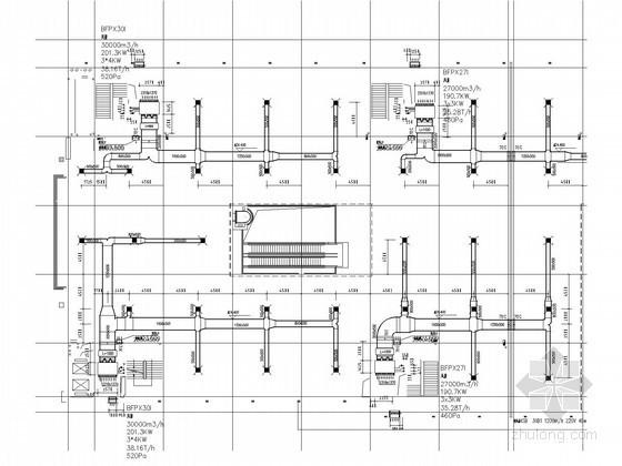 [河南]高层商业楼空调通风及排烟系统设计施工图(水源热泵)