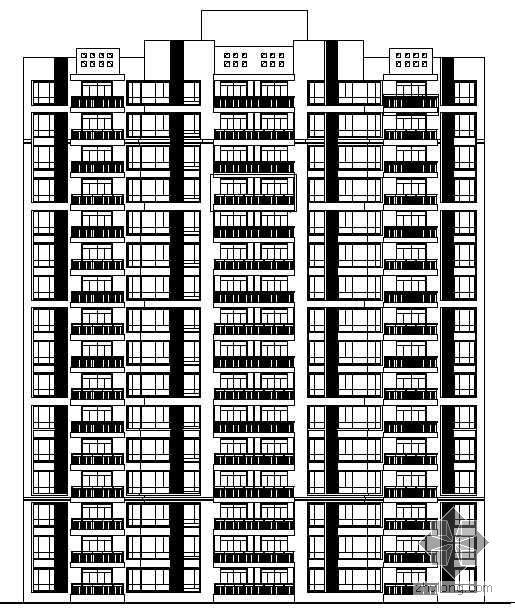 [沙田镇]某岛安置区农民公寓二期住宅楼群组团建筑结构水电造价施工图(带清单分析、招标文件)