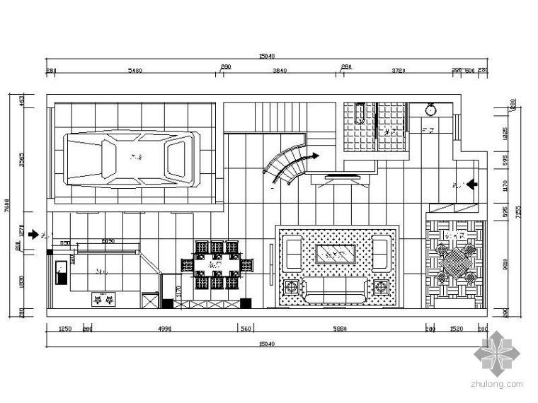 私人小别墅平面布置图