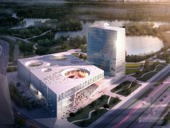 [北京]16层呼吸式玻璃幕墙体系知名传媒中心建筑设计方案文本(国内知名建筑事务所)