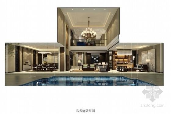 [海南]某名师豪华酒店时尚双层别墅室内设计方案图