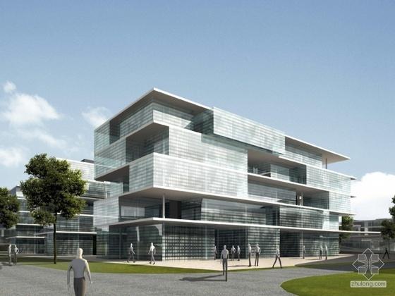 南方某科技大学校园规划与建筑概念设计方案投标方案一