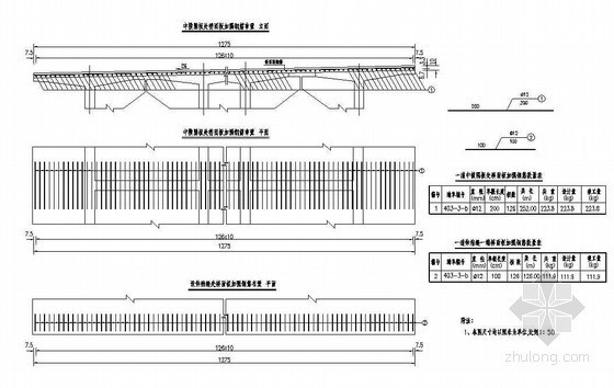 50mT梁桥面板加强钢筋布置节点详图设计
