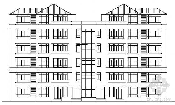 某六层复式公寓建筑建筑方案图