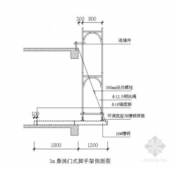 住宅楼门式脚手架施工方案(拱构型门式钢管脚手架)