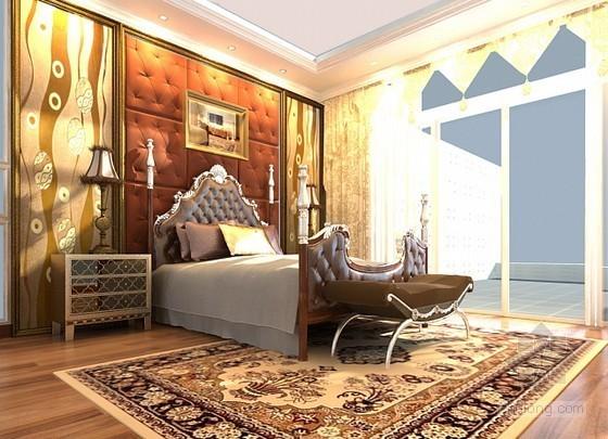 华丽欧式卧室效果图模型