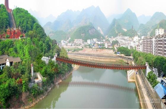 [贵州]1-130米索道桥总体施工组织设计76页(重力式锚碇 缆索吊装)