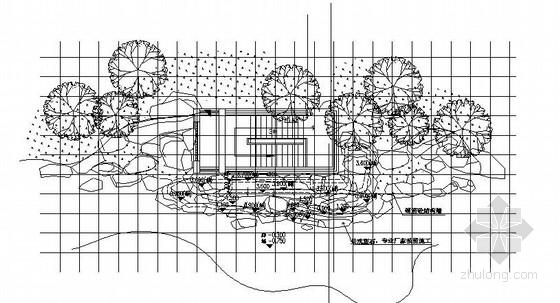 假山瀑布建筑结构施工图