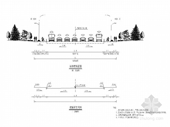 沥青混凝土路面市政道路工程全套施工图(59张)