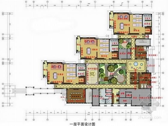 [杭州]东南亚风格幼儿园室内设计方案图