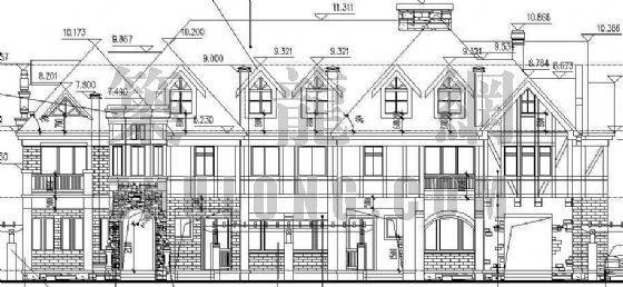 某德式多坡四联排别墅建筑设计方案-2