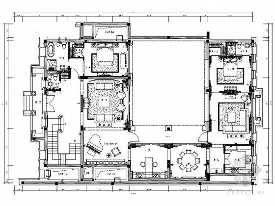 [浙江]经典欧式简约舒适2层别墅室内设计全套施工图