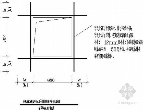 剪力墙洞口补强构造节点详图