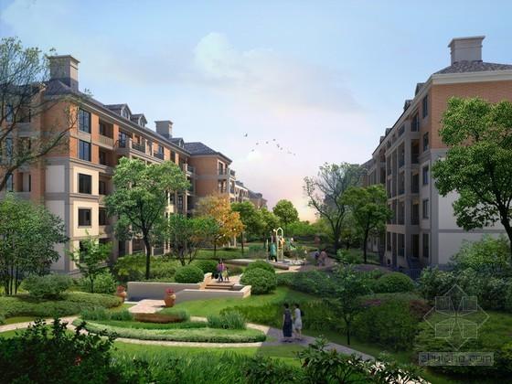 小区建筑景观PSD分层素材下载