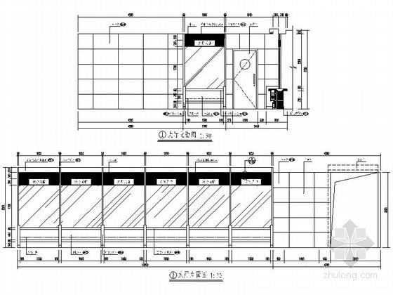 [北京]股份制商业综合金融机构支行装修施工图大厅立面图