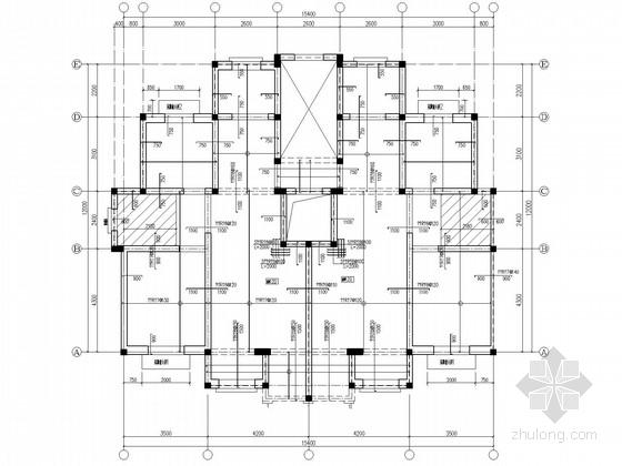 坡屋顶,带地下室框架住宅结构施工图