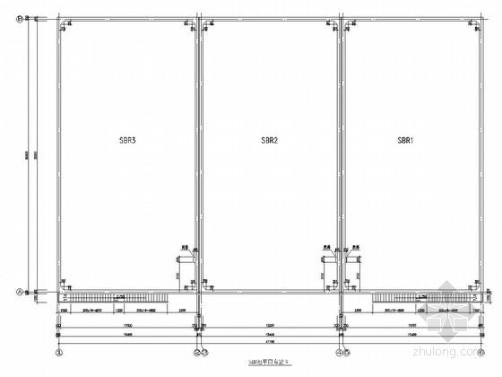 垃圾填埋场SBR池结构施工图