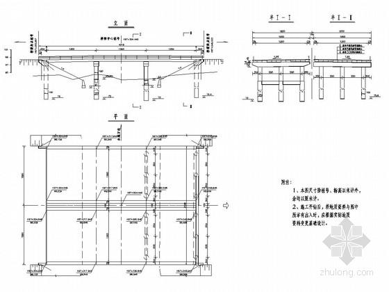 简支连续空心板桥标准通用图(24张 多基础形式)