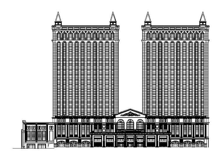 [四川]高层现代风格五星级酒店建筑施工图