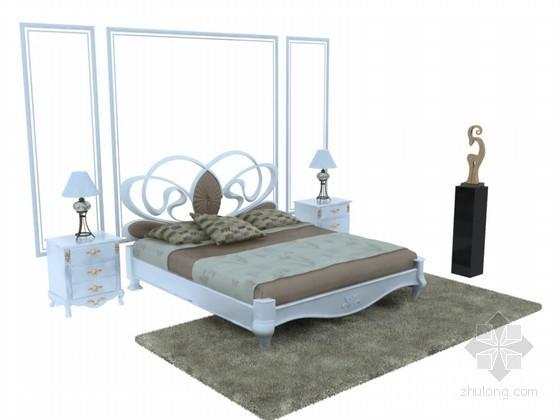 欧式造型床3D模型下载