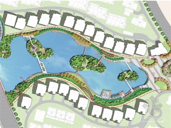 [苏州]生态居住小区花园式中心湖区景观设计方案