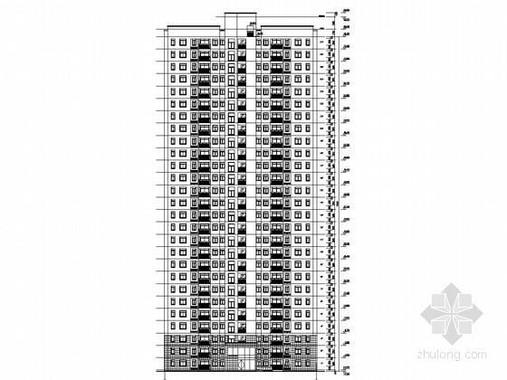 10000平27层剪力墙结构住宅楼建筑结构施工图