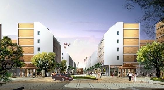 [台州]现代科技商城规划设计方案-景观效果图