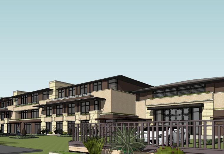 新中式风格幼儿园建筑模型设计(2018年)