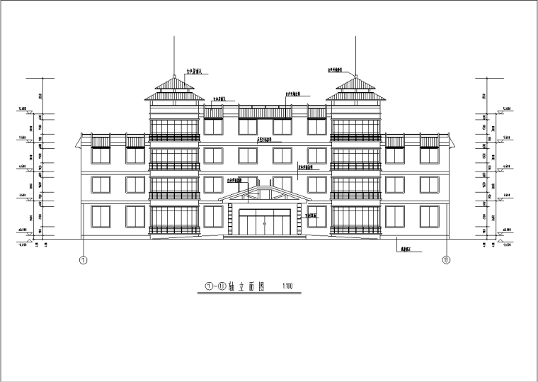 某三层养老院全套建筑施工图