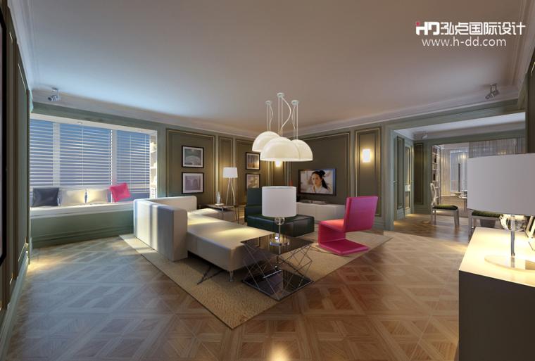 #我的年度作品秀#奢华公寓之彩色欧式_3