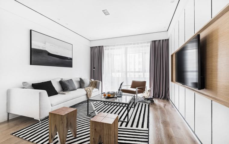 现代北欧风格的二居室