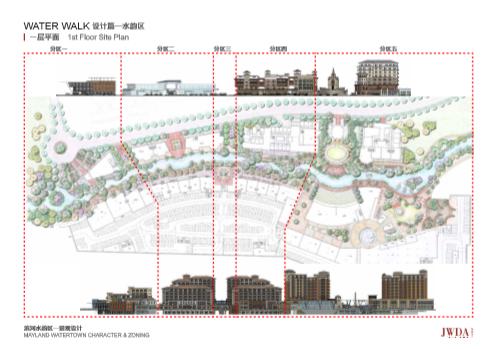 中国美林湖滨河水韵区景观设计 骏地设计