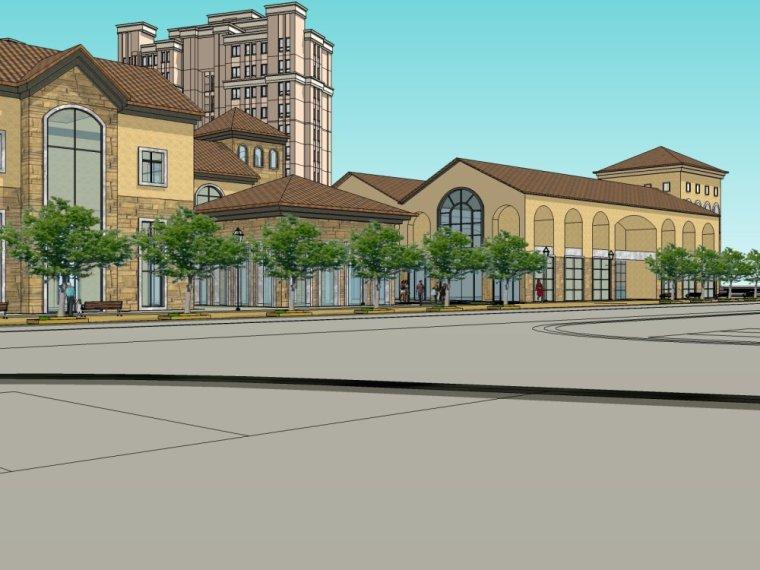 欧式风格\住宅商业建筑设计.skp