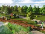 """[江苏]""""海绵城市""""滨河绿道节约型生态纪念园区景观规划设计方案"""