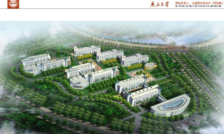 燕山大学西校区第二、三组团建筑方案设计(多图)